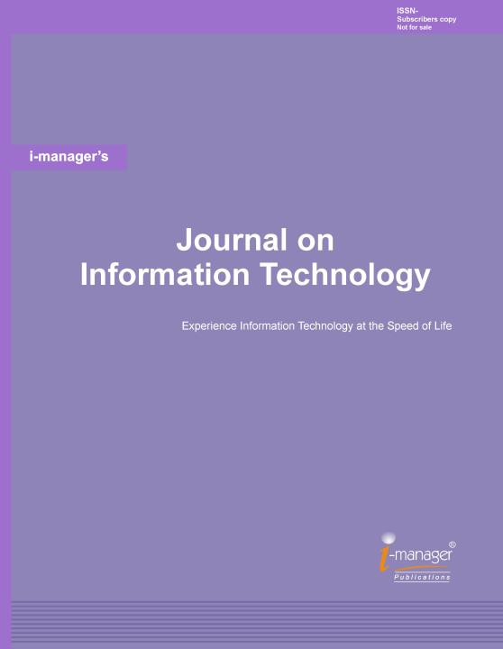 i-manager Publications, imanager Publications, i-manager's Journals